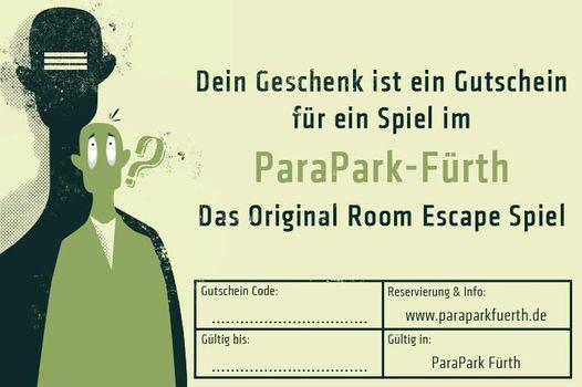 dein geschenk ist ein gutschein für ein spiel im parapark Nürnberg - Fürth
